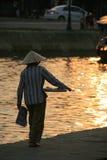 更长的la rivière (会安市- Viêtnam) 免版税库存照片