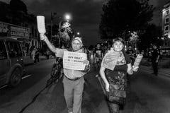 年长示威者-罗希亚蒙塔讷抗议 免版税库存照片