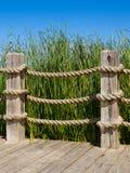 绳索细长立柱 库存图片