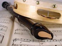 长笛和小手鼓 库存图片