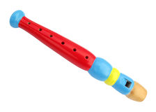 长笛管道五颜六色为子项 免版税库存照片