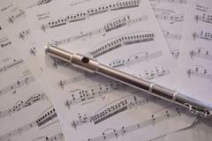 长笛音乐 库存图片