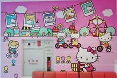 长荣航空Hello Kitty飞机 免版税库存照片