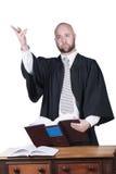 长袍的男性律师 库存照片