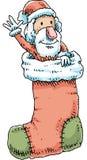 长袜圣诞老人 库存图片