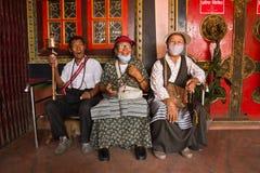 年长西藏人,加德满都尼泊尔 免版税库存图片