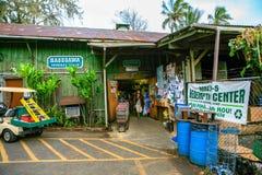长谷川百货商店,向哈纳,毛伊,夏威夷的路 库存照片