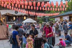 长野,日本- August 15日2017年:庆祝好的妙语O的人们 库存照片