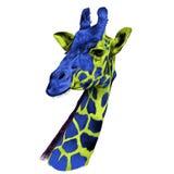 长颈鹿剪影的头 免版税库存图片