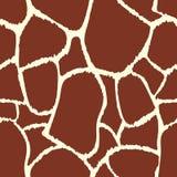长颈鹿模式无缝的纹理 库存照片
