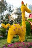 长颈鹿由花制成 免版税库存图片