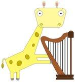长颈鹿竖琴家 库存照片