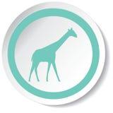 长颈鹿象 免版税库存图片
