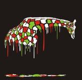 长颈鹿,抽象绘画 免版税库存照片