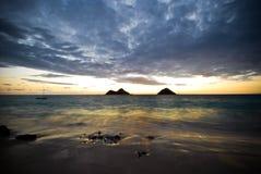 长风险的海岛 图库摄影