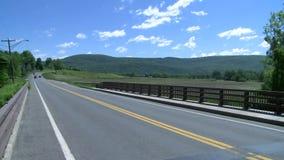 长,光滑的乡下公路 股票录像