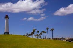 长滩加利福尼亚海岸线公园灯塔 库存图片