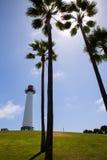 长滩加利福尼亚海岸线公园灯塔 免版税库存照片