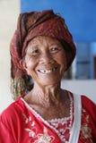 年长巴厘语妇女 免版税库存图片