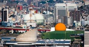 长崎口岸和港口区域 免版税图库摄影