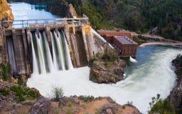 长水坝的湖 库存照片