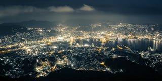 长崎夜场面 库存照片