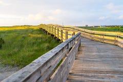 长滩木板走道风景海滩逃走 库存照片