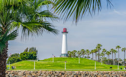 长滩港口灯塔 图库摄影