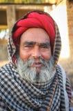 年长Rabari部落成员 图库摄影