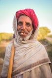 年长Rabari部落成员 库存照片