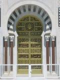 门。哈比卜・布尔吉巴陵墓。Monastir。突尼斯 图库摄影