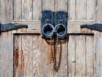门中世纪木 免版税库存图片