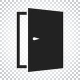 门传染媒介象 退出图标 开放门的例证 简单的busi 皇族释放例证