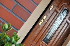 门入口前面 免版税库存图片