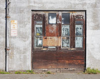 门入口后方 免版税库存图片