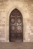 门前中世纪 库存照片
