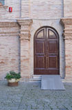 门前意大利语 库存图片