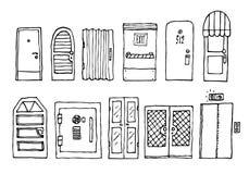 门和入口集合 免版税库存照片