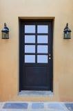 门和灯 图库摄影