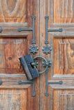 门和锁 免版税库存照片