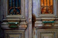 门在克利特海岛 免版税库存照片