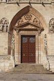 门在布尔戈斯、卡斯提尔和利昂,西班牙大教堂里  免版税图库摄影