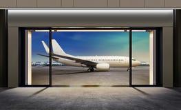 门在机场 免版税库存照片