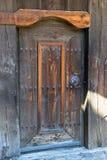 门在老传统保加利亚房子里 免版税图库摄影