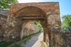 门在贝尔格莱德堡垒 免版税库存照片