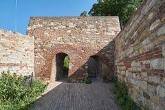 门在贝尔格莱德堡垒 免版税库存图片