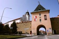 门在Levoca镇 免版税库存照片