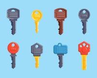 门安全钥匙传染媒介被隔绝的象 免版税库存照片