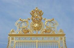 门宫殿versaille 免版税库存照片