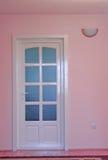 门家庭内部粉红色 库存图片
